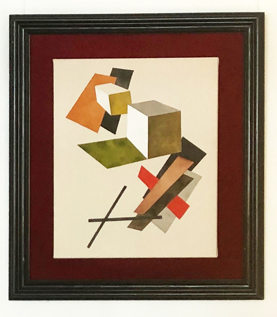 Tuomas Korkalo, 'Composition 280820', 2020, Mixed Media, Watercolour, sumi-ink and acrylic on canvas, velvet and old frame, BBA Gallery
