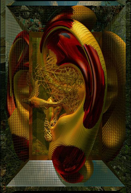 Konstantin Khudyakov, 'Golden Ear', 2011, Mixed Media, Stereo-light panel, 1/2, Savina Gallery
