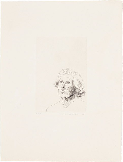 """David Hockney, 'My Mother Today: as a Study for Félicité in """"A Simple Heart"""" of Gustave Flaubert', 1974, Phillips"""
