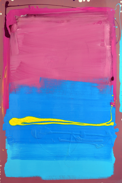 , 'Pink and Blue Blocks with Yellow Line Painting,' , Joanne Artman Gallery