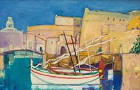 , 'Fishing Boats, Collioure,' 2018, Lime Tree Gallery