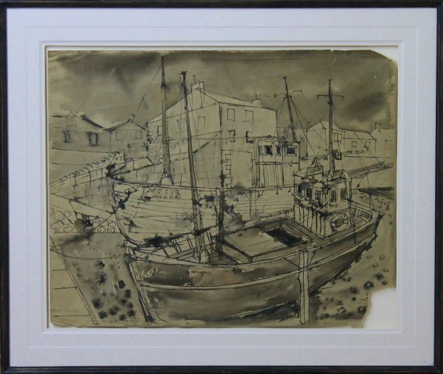 , 'Penzance Fishing Boats,' 2017, Castlegate House Gallery