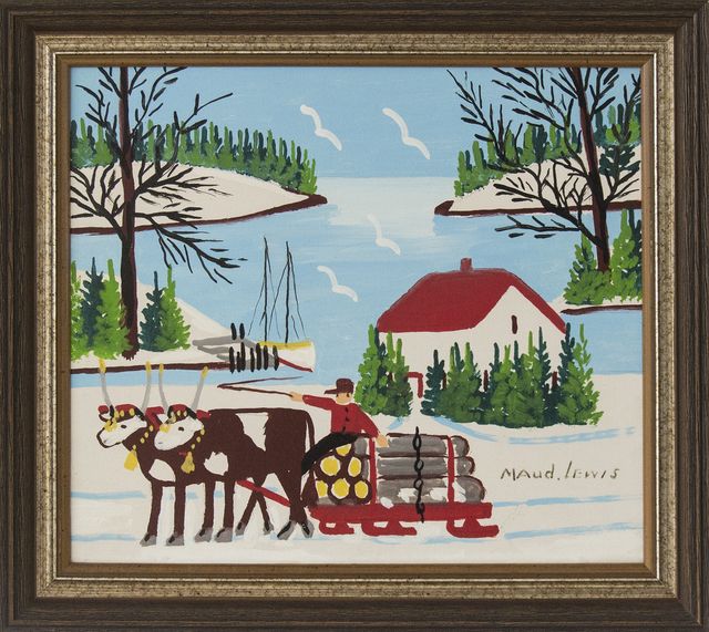 Maud Lewis, 'Oxen Hauling Logs', Oeno Gallery