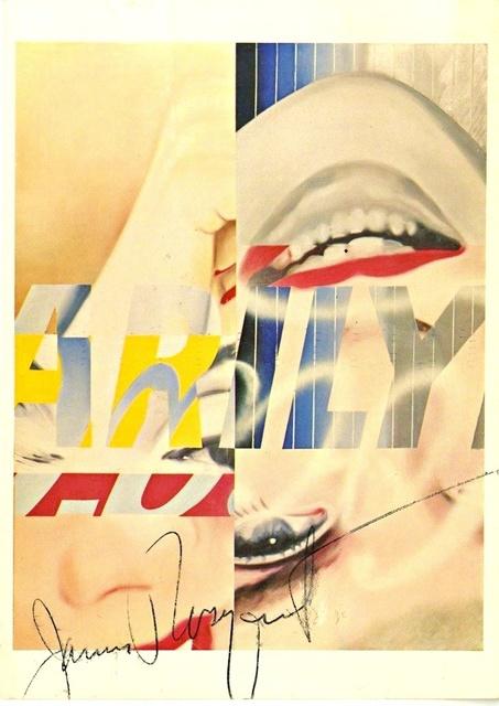 James Rosenquist, 'Marilyn Monroe (Hand Signed)', 1983, Ephemera or Merchandise, Offset lithograph postcard. hand signed by james rosenquist. unframed., Alpha 137 Gallery Gallery Auction