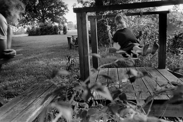 , 'Lambton County, Ontario, Canada [Isaac on Swing],' 1998, Stephen Bulger Gallery