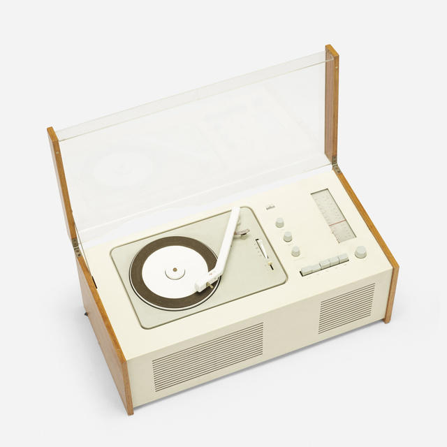 Dieter Rams, 'SK 5 Phonosuper radiogram with rare external Snow White speaker', 1958, Other, Enameled steel, ash, acrylic, enameled aluminum, lacquered wood, plastic, Rago/Wright