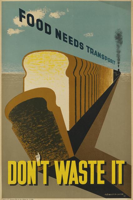 Lewitt-Him, 'FOOD NEEDS TRANSPORT / DON'T WASTE IT', 1944, Swann Auction Galleries