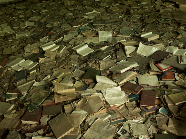 , 'Field note 09-05-16-2 (Bookshop Pripyat, Chernobyl), from the series From the Pit of Et Cetera,' 2013-2016, Dürst Britt & Mayhew