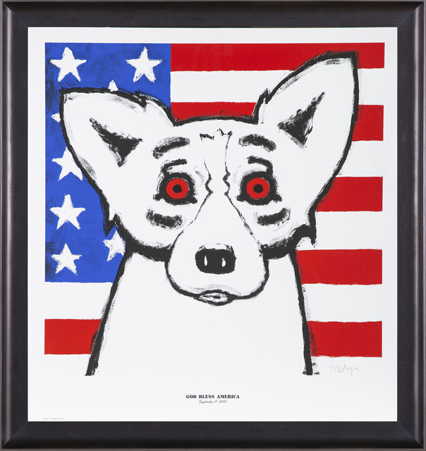 George Rodrigue, 'God Bless America and We Will Rise Again (Tribute to Sept 11th)', 2011, Modern Artifact