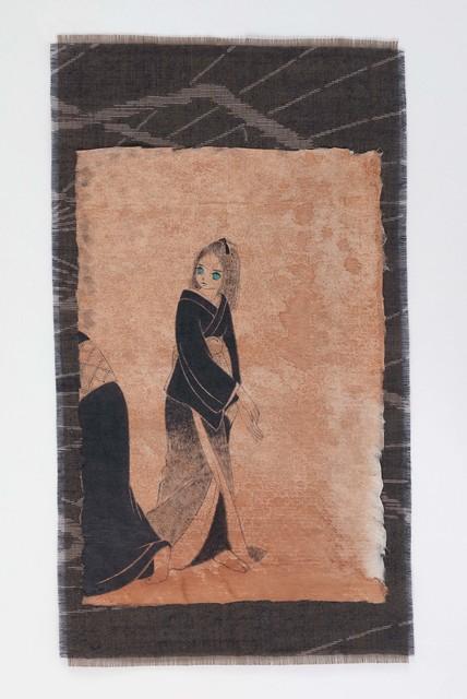 Yamaguchi Ai, 'sue no tsubame', 2020, Painting, Japanese paper, cloth, sumi ink, acrylic, Mizuma Art Gallery