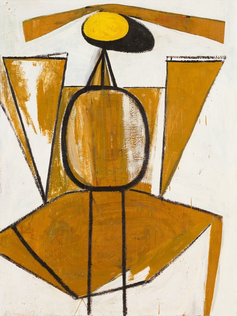 Robert Motherwell, 'Personage, with Yellow Ochre and White', 1947, Painting, Oil on canvas, Dedalus Foundation
