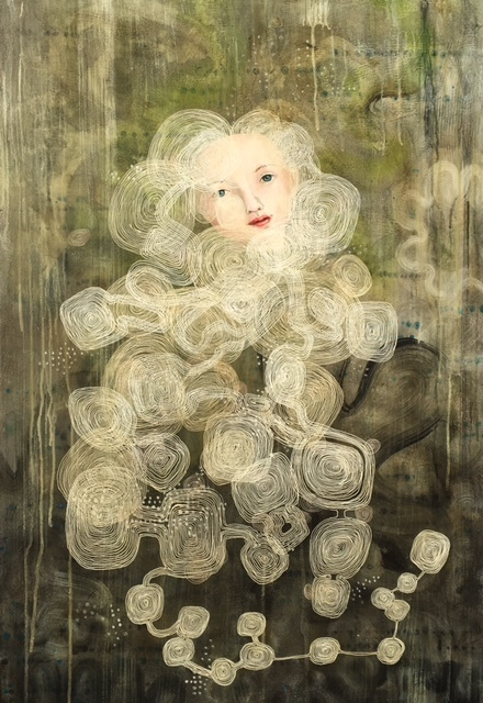 Anne Siems, 'Veil', 2017, Painting, Acrylic on panel, Wally Workman Gallery