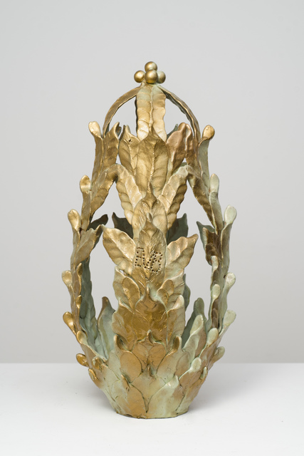 , 'Untitled (Green and gold closed-top vessel),' n.d., Fleisher/Ollman