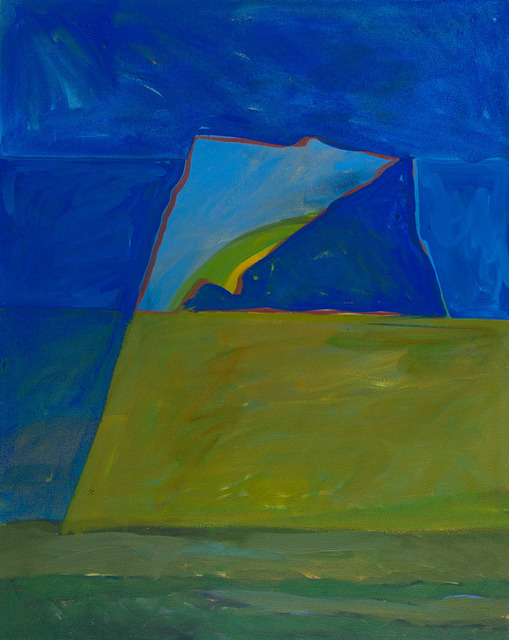 Lee Hall, 'SOUNION DUSK SHADOW', 1986, Painting, Acrylic on Canvas, Jerald Melberg Gallery