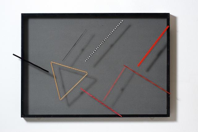 , 'Tavola magnetica trasparente. Lineare variabile,' 1960, Cortesi Gallery