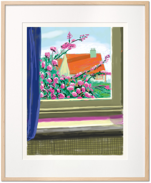 David Hockney, 'Art Edition (No. 751-1,000), with a print of the iPad drawing 'No. 778', 17th April 2011', 2019, Print, 8-color inkjet print on cotton-fiber archival paper, with hardcover Art Book 'David Hockney, My Window', David Benrimon Fine Art