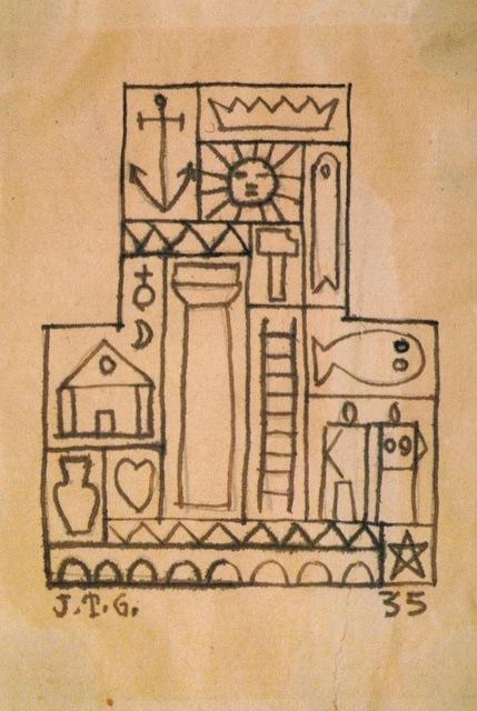 , 'Constructivo con formas,' 1935, Galería de las Misiones