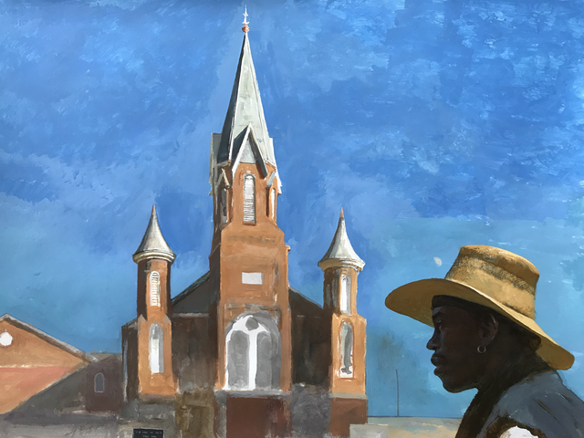 Bo Bartlett, 'A.M.E. (Homeless Artist Bobby Rose in the Afternoon at St.James A.M.E. Church on 6th)', Dowling Walsh