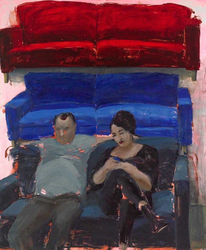 Tirtzah Bassel, Ikea/ Couple 2014, Acryl auf Leinwand, 152,5 x 183 cm Foto: Damon Bundschuh