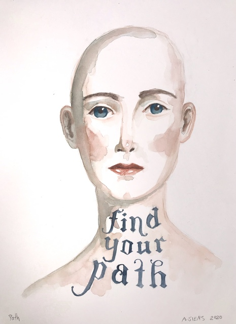 Anne Siems, 'Find Your Path', 2020, Drawing, Collage or other Work on Paper, Watercolor and mixed media on paper, Wally Workman Gallery