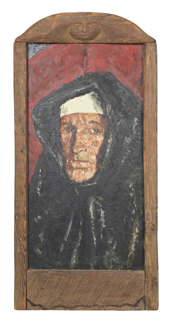 Samuel Rothbort, 'Self Portrait - Nun', Painting, Oil on canvas in artist made frame, FRED.GIAMPIETRO Gallery