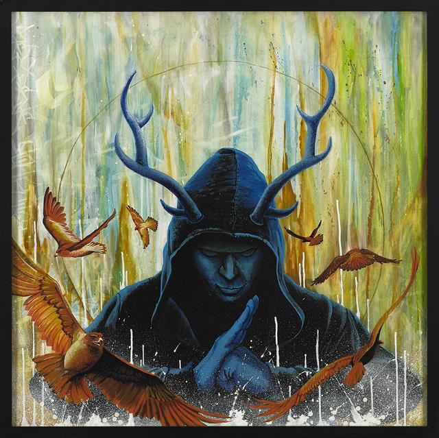 "Marcel ""SEL"" Blanco, 'Meditative Rage ', 2020, Painting, Acrylic and spray paint on wood panel, FATHOM"