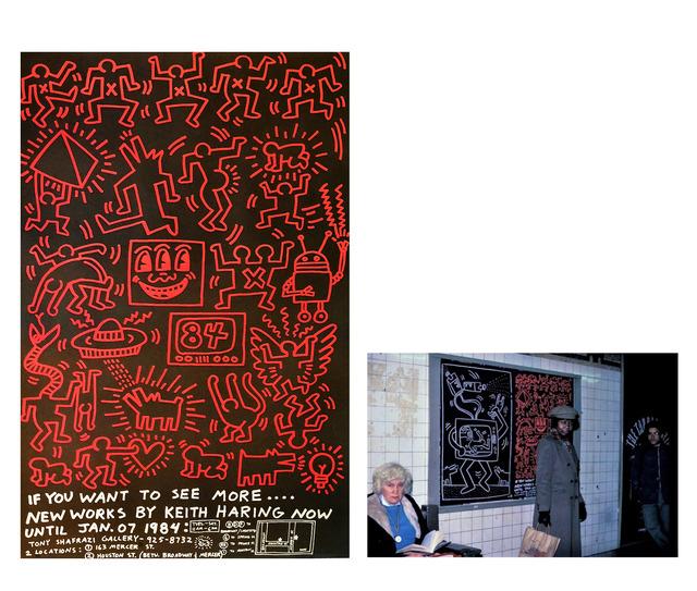 Keith Haring, ''Keith Haring 84', Tony Shafrazi Gallery, 1984, Street Advertising Poster, RARE', 1984, VINCE fine arts/ephemera