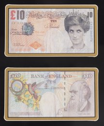 Di-Faced Tenner, 10 GBP Note (two works)