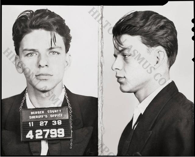 , 'Frank Sinatra Mug Shot - Front and Side - 1938,' 1938, Hilton Asmus