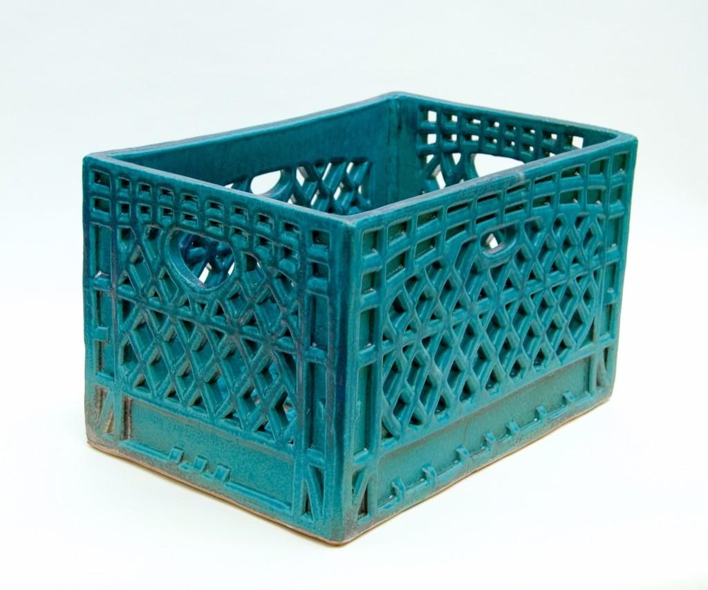 Rectangular Milk Crate (teal)