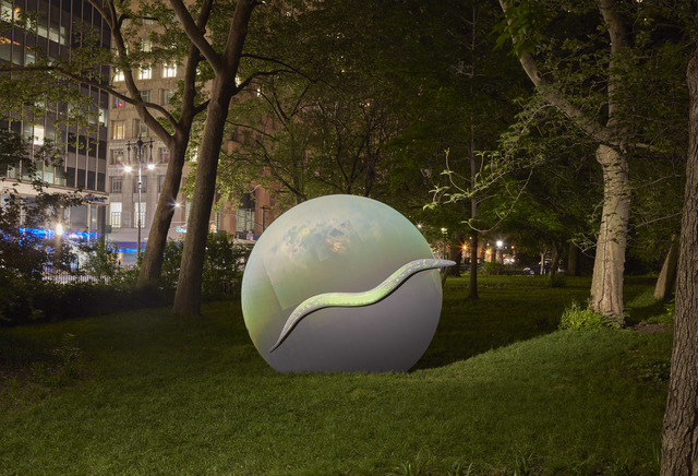 , 'Earth Potential (C. elegans, Saturn's Moon Titan),' 2017, Public Art Fund