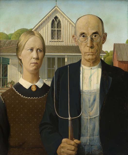 , 'American Gothic,' 1930, Whitney Museum of American Art