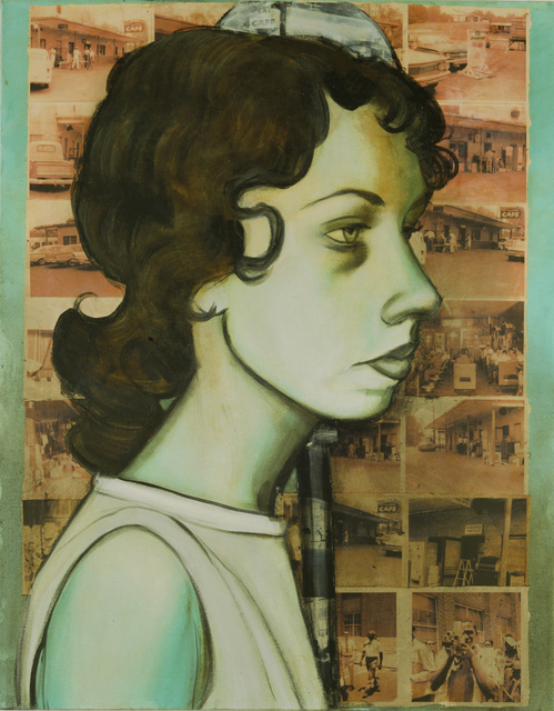 Charlotta Janssen, 'Joan Pleune, (Profile) 22 yrs, from Berkeley CA Arrested 6/20/1961 Jackson MS', 2011, Hudson Milliner Art Salon