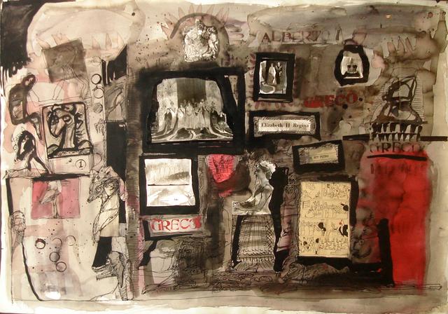 Alberto Greco, 'El Rey Petiso', ca. 1960, Painting, Mixed media anc collage, MAMAN Fine Art Gallery