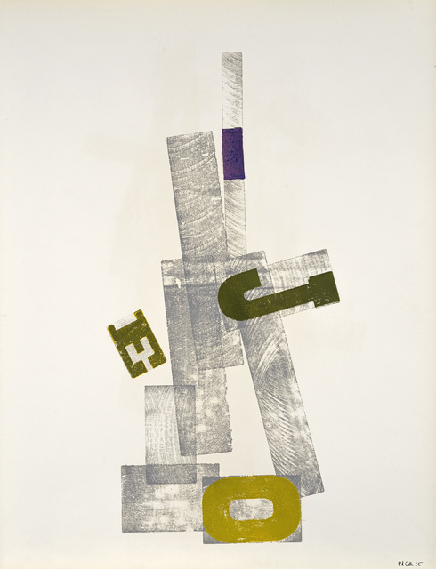 , 'Empreinte de lettres,' 1965, Galerie Natalie Seroussi