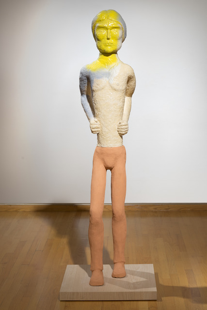 , 'Walking Man (yellow face),' 2014, Wirtz Art