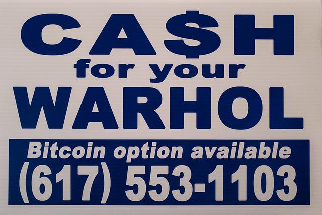 , 'CFYW Bitcoin (white),' 2018, Spoke Art