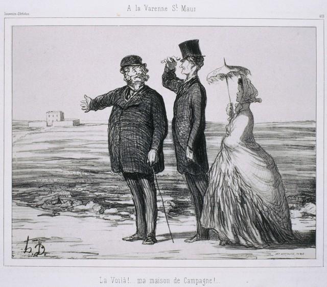 Honoré Daumier, 'Souvenir d'Artistes: À La Varenne-Saint-Maur', 1862, Phillips Collection