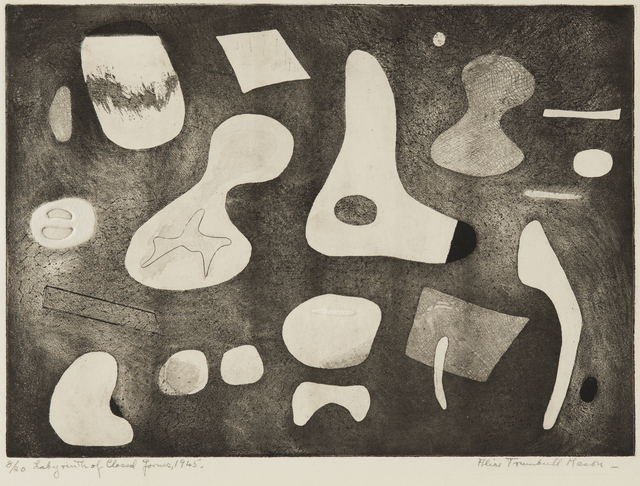 , 'Labyrinth of Closed Forms,' 1945, Washburn Gallery