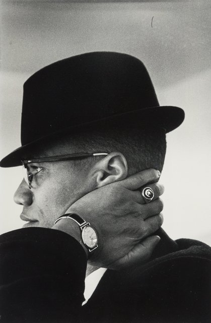 Eve Arnold, 'Malcom X, Chicago', Photography, Gelatin silver, Heritage Auctions