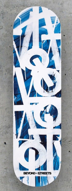 , 'Original Limited Edition Skateboard Skate deck (Blue) with COA hand signed by Retna,' 2018, Alpha 137 Gallery