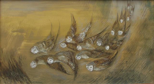 , 'Mayas, bocetos de talla de mural ,' 1965, Oscar Roman