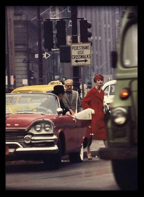 , 'Anne St. Marie and Cruiser in Traffic, Vogue, NYC,' 1962, Atlas Gallery