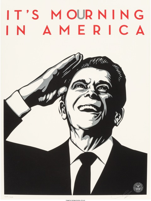 Shepard Fairey (OBEY), 'It's Mourning in America', 2011, Heritage Auctions