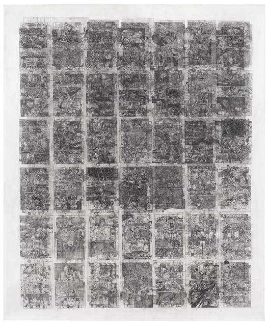 , 'Untitled (Akira, Volume 2, 301 pages on one paper),' 2014-2015, Wilkinson