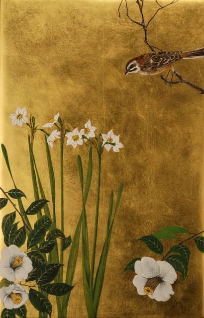 Hiroshi Yamano, 'CAMELLIA AND NARCISSUS', Traver Gallery