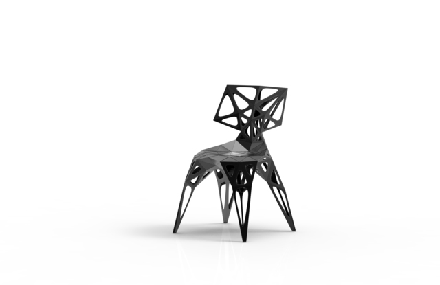 , 'MC006-F-Black (Endless Form Chair Series),' 2018, Gallery ALL
