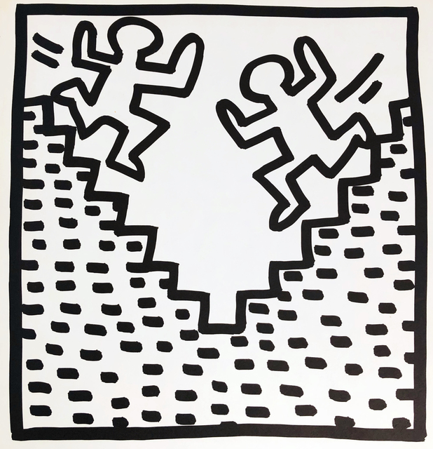 Keith Haring, 'Keith Haring (untitled) Stairs lithograph 1982', 1982, Lot 180