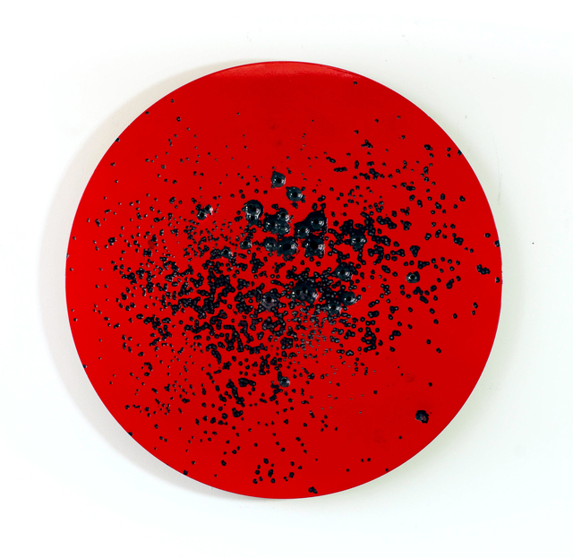 ", '""Caliber Abstraction - Apple Red on Red #1"",' 2017, Mugello Gallery"