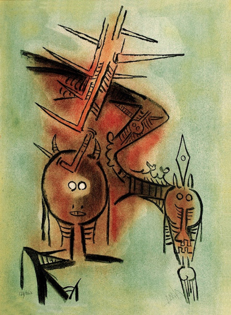 Wifredo Lam, 'Belle Epine from the Pleni Luna suite', 1974, Print, Lithograph, MLA Gallery